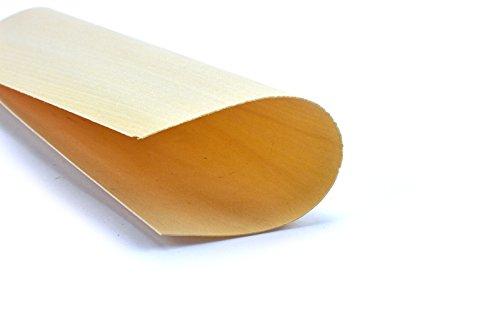 4-5 Furniere Holzarten wie z.B. Eiche, Buche, Nussbaum, Mahagoni. Furnier geeignet für Modellbau, Ausbesserungsarbeiten, Fotografie, Geschenk, Restauration, DIY, basteln, Intarsien, Schmuck (Linde)