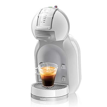 Krups Mini Me KP1201ES - Cafetera de cápsulas Nestlé Dolce Gusto automática, 15 bares de presión, motor 1500 W con depósito de 0,8 L, para todo tipo de bebidas frías y calientes, color blanco