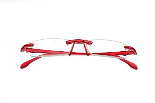 【おしゃれシニアグラス】エアリーダー 角型 EYE MAGINE/アイマジン 軽量老眼鏡 (+2.0, チェリー)