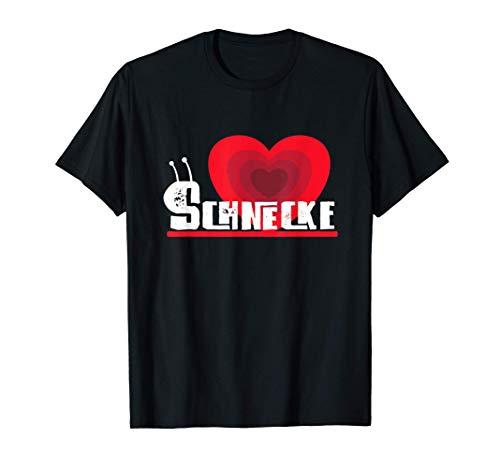 Schnecken Herz Schneckenhaus Statement Design T-Shirt