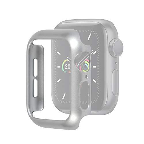 Idealeben Custodia Protettiva per Apple Watch 44 mm, Custodia Protettiva Compatibile con Apple Watch Series 5/4 - Argento, Custodia Protettiva Leggera, Custodia per PC Ultra Sottile