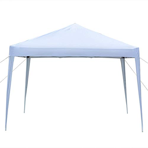 MITPATY 10 x 10' Practical Waterproof Right-Angle Folding Tent White - Party Tent Portable Carport Shelter Canopy for Outdoor Wedding Garden Party