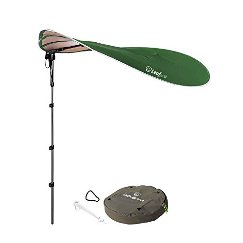 Leaf for Life-The Smart Sunshade Large Portable Sun Shade Windproof Beach Umbrella with Sand Anchor Perfect for Camping, Beach Sunshade&Fishing UPF50 UV Protection 360° Telescoping Pole