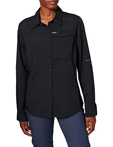 Columbia Silver Ridge 2.0 Camisa de manga larga para mujer, Negro, S