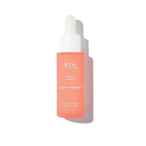 REN Clean Skincare - Perfect Canvas Clean Primer - Silicone-Free and Clinically Proven Hydrating Facial Primer for Smoother Skin, 1 Fl Oz