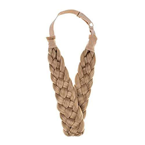 Geflochtene Perücke, dicke Fischgräte,5 Aktien geflochtene Haarbänder, verstellbare elastische Perücke, modisches Geschenk für schicke Damenhaarzusätze (#6)