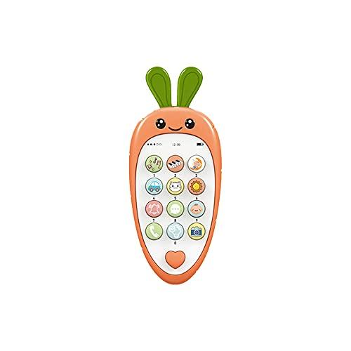 ZENING Juguete de los niños Teléfono Móvil Niño Teléfono Celular Simulación Iluminado Juego de Luz Plástico