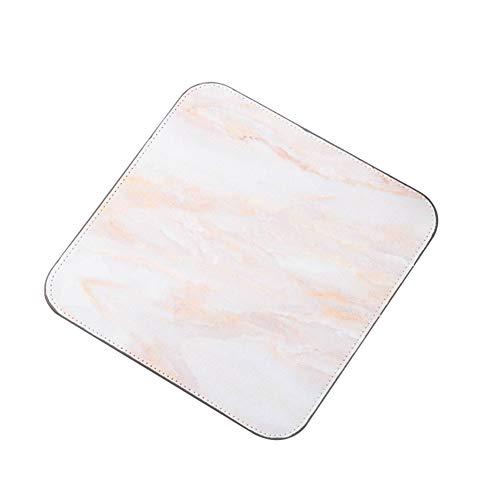 Momangel Alfombrilla antideslizante para ratón, diseño de mármol romántico impreso de goma cuadrada, mesa de escritorio de juegos para uso en casa o oficina, caucho, 4#, 20 x 20 cm