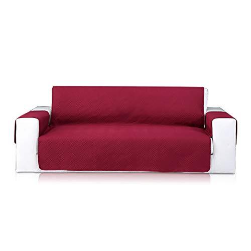 PETCUTE Sofabezüge Sofaschoner sofaüberwurf 3 Sitzer Sesselschoner Sofabezug Elegantes Couch überwurf sofahusse Weinrot