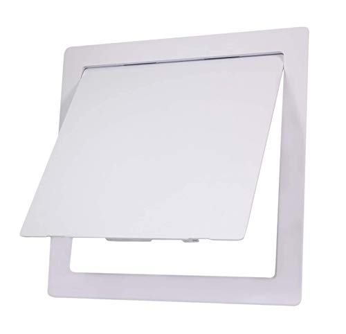 SUPPLY GIANT AP12 Plastic Panel for Drywall Ceiling 12 x 12 Inch Reinforced Plumbing Wall Access Door Removable Hinged White, 12 x 12