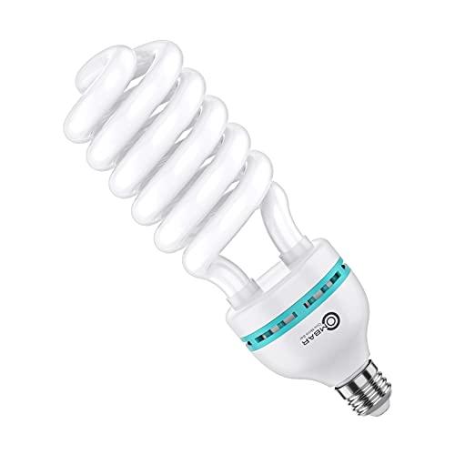 OMBAR 135W Bombilla de Luz para Iluminación de Estudio Fotográfico, temperatura de color 5500K Luz Diurna y Natural Ahorro de Energía con más de 10,000 horas de vida util para Fotografía, Vídeo