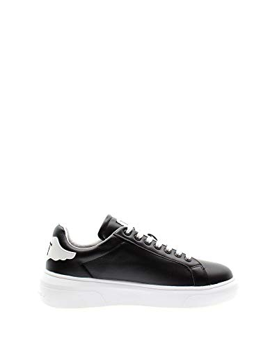 RICHMOND Luxury Fashion Herren 1331BLACK Schwarz Leder Sneakers | Frühling Sommer 20