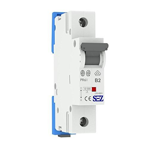 SEZ Leitungsschutzschalter B 2A 1p 10kA VDE B2A 0099102 Sicherung 0029