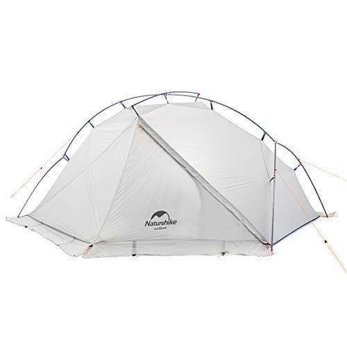 Factory Naturehike VIK Série 970g Ultralight Single Tent 15D Nylon Tente de Camping étanche Monocouche Tente de randonnée extérieure NH18W001-K (White with Snow Skirt)