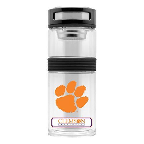Duck House NCAA Clemson Tigers Thermoskanne aus Glas, isoliert, 400 ml