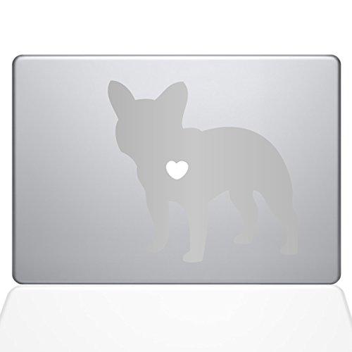The Decal Guru I Love My French Bulldog Decal Vinyl Sticker, 12' MacBook, Silver (1480-MAC-12M-S)