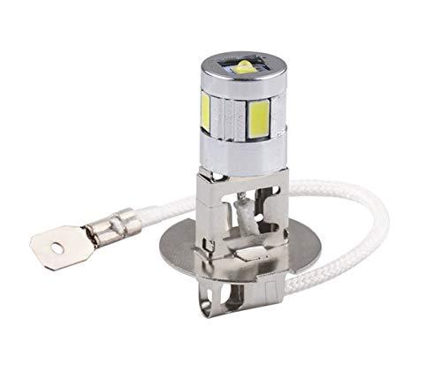 Hxfang H3 Bombillas LED de la niebla del coche de la lámpara de la lámpara de alta potencia SMD 5630 Auto de conducción Bombillas LED for Coche 12V Fuente de luz Aparcamiento 6000K faros D030 Ahora c