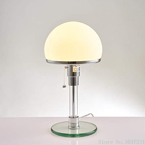 Lámpara de mesa Lámpara De Mesa De Diseño, Lámpara Bauhaus, Luces De Escritorio Led De Cristal Con Brillo Nórdico, Lámpara De Mesa De Noche Para Dormitorio, Lámpara De Pie Decorativa Para El Hogar