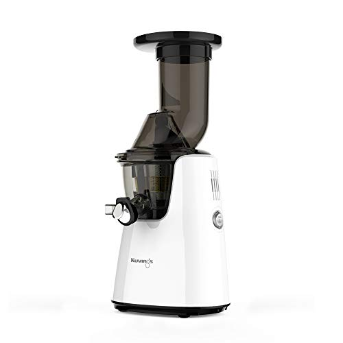 Kuvings Whole Slow Juicer Elite C7000W - Higher Nutrients and Vitamins, BPA-Free Components, Easy to Clean, Ultra Efficient 240W, 60RPMs,White