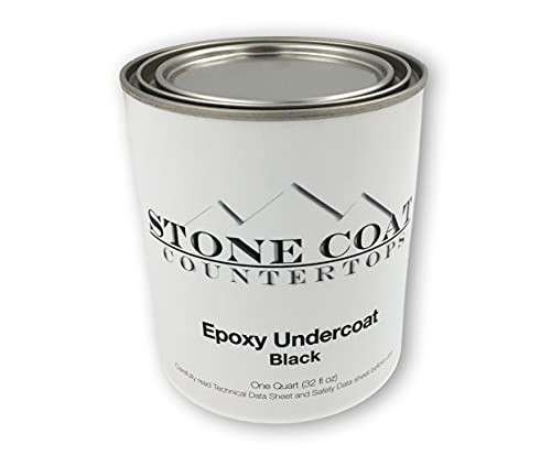 Black Epoxy Undercoat – Epoxy Paint and Primer Mix for Coating MDF, Plywood, and Other Porous Materials! Use with DIY Epoxy Resin Kits! 1 Quart (32 Fl Oz)