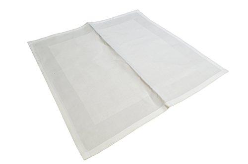 25Stück Polier Reinungstücher Putztücher 100% reine Baumwolle Weiss Umweltfreundlich DIN 61650