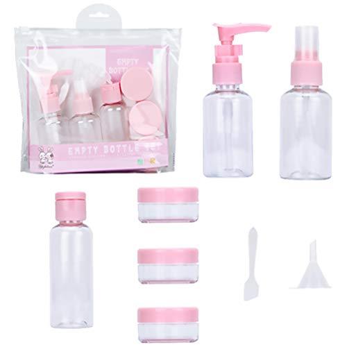 ABOOFAN 2 Botellas de Viaje Conjunto de Artículos de Tocador Botella Vacía Contenedores Líquidos con Tapas de Aerosol Tapas de Tornillo Almacenamiento de Viaje Bolsa Transparente para