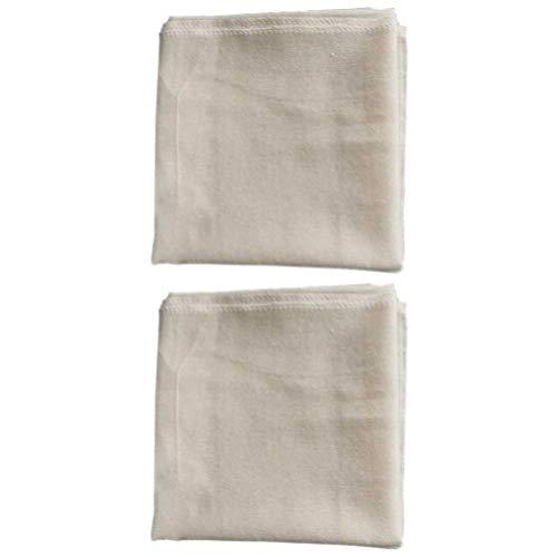 DOITOOL Cheesecloth bawełniane cienkie muślinowe ściereczki niewybielone pierogi serowe mata bułki na parze do gotowania odsysania sera pieczenie khaki 2 szt
