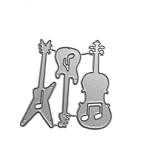 Guitar Metal Cutting Dies Stencil DIY Scrapbooking Album Stamp Paper Card Embossing Craft Decor Guitar Metal Cutting Dies Stencil DIY Scrapbooking Album Stamp Paper Card Embossing Craft Decor Carbon