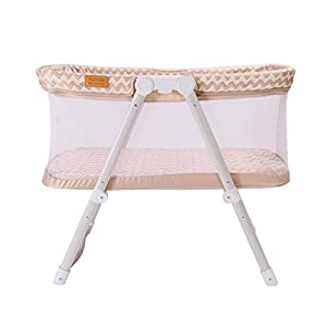Venture Hush Lite Baby Crib, Compact Travel Cot 0-6 Months Cream