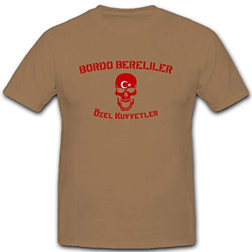 Bordo Bereliler Türkische Spezial Einheit - T Shirt #6949, Farbe:Sand, Größe:M