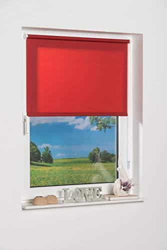 K-home Tenda a Pannello 236626–2Klemmfix Mini, Rosso Luce Diurna, plastica, Tessuto, Rosso, 40 x 150