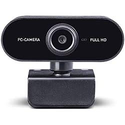 Midland W199 Webcam HD con USB con Microfono Integrato, Ideale per Videochiamate HD Widescreen, Skype, FaceTime, Hangouts, Compatibile con PC, Mac, Laptop, Macbook