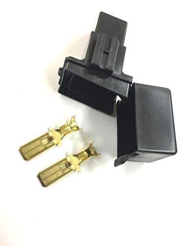 スローブローヒューズ・ホルダー&端子セット(黒)日本製