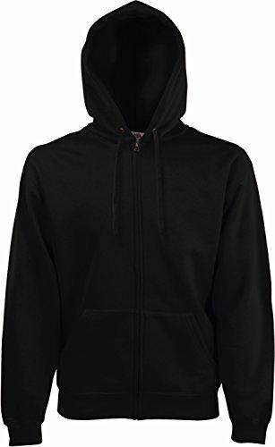 Fruit of the Loom Herren Premium Hooded Zip Sweat Sweatshirt, Schwarz (Black 101), Large