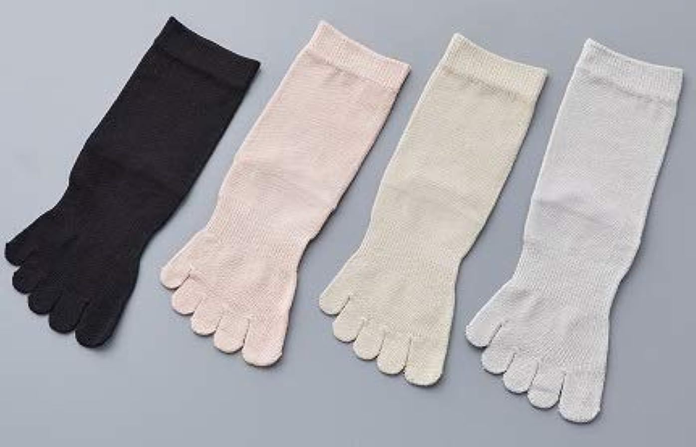 金銭的な成熟正気婦人 シルク 5本指 靴 下最高級 シルク100% 使用 プレゼントに最適 22-24cm 太陽ニット S90 (ベージュ)