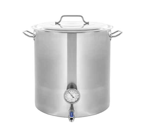 Concord Stainless Steel Home Brew Kettle Stock Pot (40 QT/10 Gal)