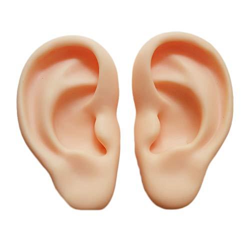 VIEUR Silikon Ohr Akupunktur trainieren Modell- Mensch Anatomie Modell- rechts und Links Lehrmittel Medizin