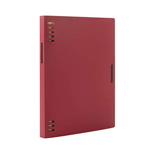 LXX Diarios A5 Espiral Diario Cuaderno B5 Detalle extraíble Blocs deficientes Frosted Notepads Índice múltiple Green blocs y Cuadernos de Notas (Color : Red, tamaño : B5)