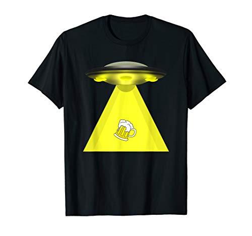 Ausländisches Abduktions-lustiges Bier-Liebhaber-Geschenk T-Shirt