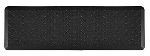 Ornavo Home 3/4' Thick Non-Slip Premium Anti Fatigue Ergonomic Comfort Floor Mat - Non Toxic - Waterproof & Cleanable- Perfect for Kitchen, Work & Office Standing Desk - 20' W x 72' L - Black