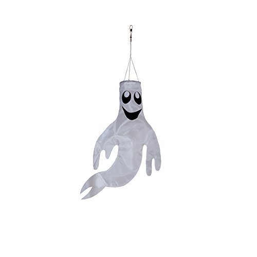 Breeze In The Small 18 inch Ghost Windsock Halloween Hanging Decoration