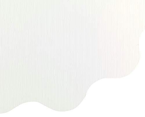 Klocke Dekorationsbedarf Rondella Manschetten – 50 Stück – Leicht Gestreift – Große Auswahl - Blumenpapier – Blumenfolie/Blumenmanschette/Straußmanschetten/Geschenkpapier Blumen (Weiß, Ø 50cm)