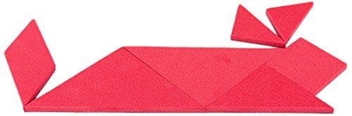 First4magnets R-1 rode pedagogische tangram - logic-puzzel & mathe-spel (1 verpakking), zilver, 25 x 10 x 3 cm