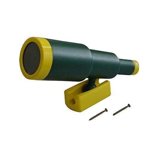 Juguetes para niños, telescopio monocular para escalada, marco de madera, casa de juegos y rotación de 360 grados