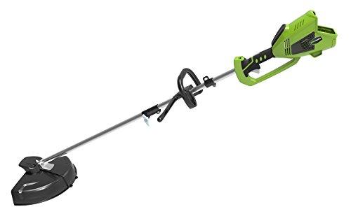 Greenworks Débroussailleuse Brushless sans fil sur batterie 35cm 40V Lithium-ion avec 2 batteries 2Ah et chargeur - 1301507UC