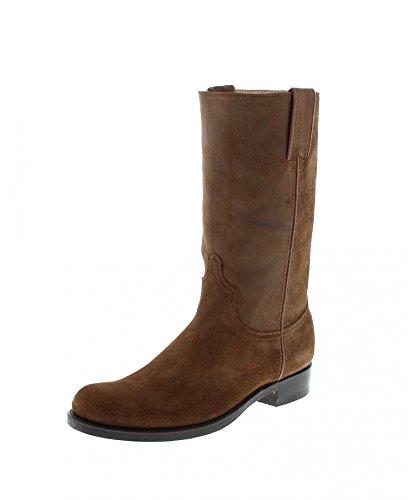 Sendra Boots Herren Cowboy Stiefel 14014 RAY Rovere Lederstiefel Braun 48 EU