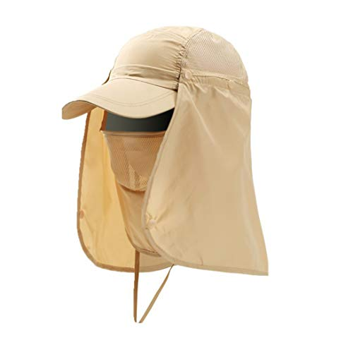 Gorra de béisbol hombre mujer Sombrero de sol integral con protección UV 3 en 1 Sombrero de visera transpirable de secado rápido Cap de deporte playa viaje senderismo caza o bicicleta