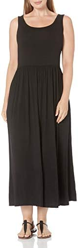 Amazon Essentials Women s Plus Size Tank Waisted Maxi Dress Black 1X product image
