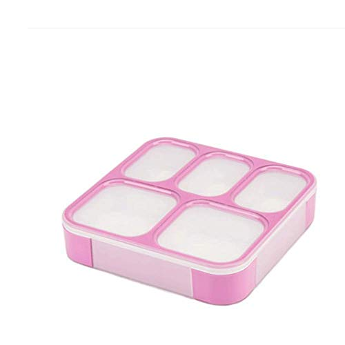 Caja de almuerzo para microondas con compartimentos impermeables para picnic, escuela, niños, a prueba de fugas