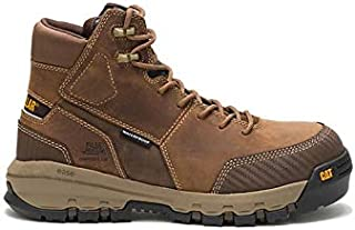 Caterpillar Men's Device Waterproof Composite Toe Work Boot DARK BEIGE